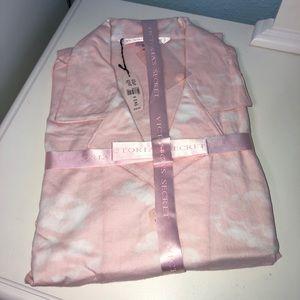 Victoria's Secret New Cotton Pajamas M Pink LS/LP